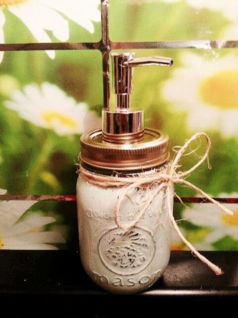 My mason jar soap dispenser.