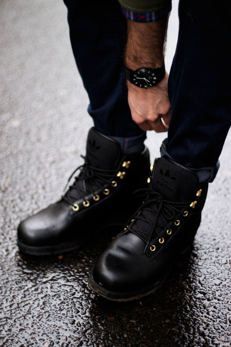 adidas Black Work Boot | SOLETOPIA | Style | Pinterest | Super ...