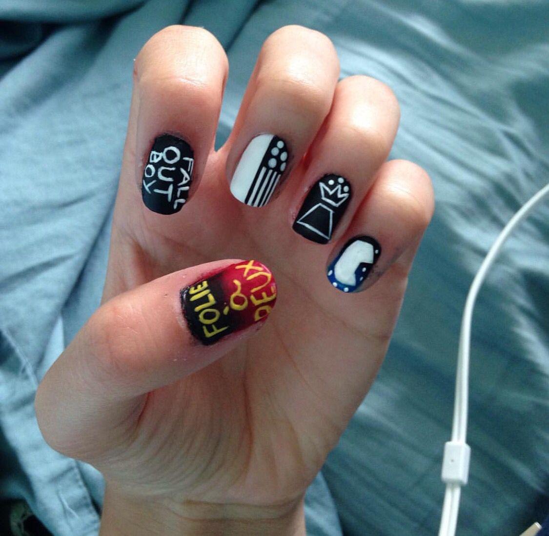 Fall Out Boy | Nails | Pinterest | Emo nail art, Teen hair and Face ...