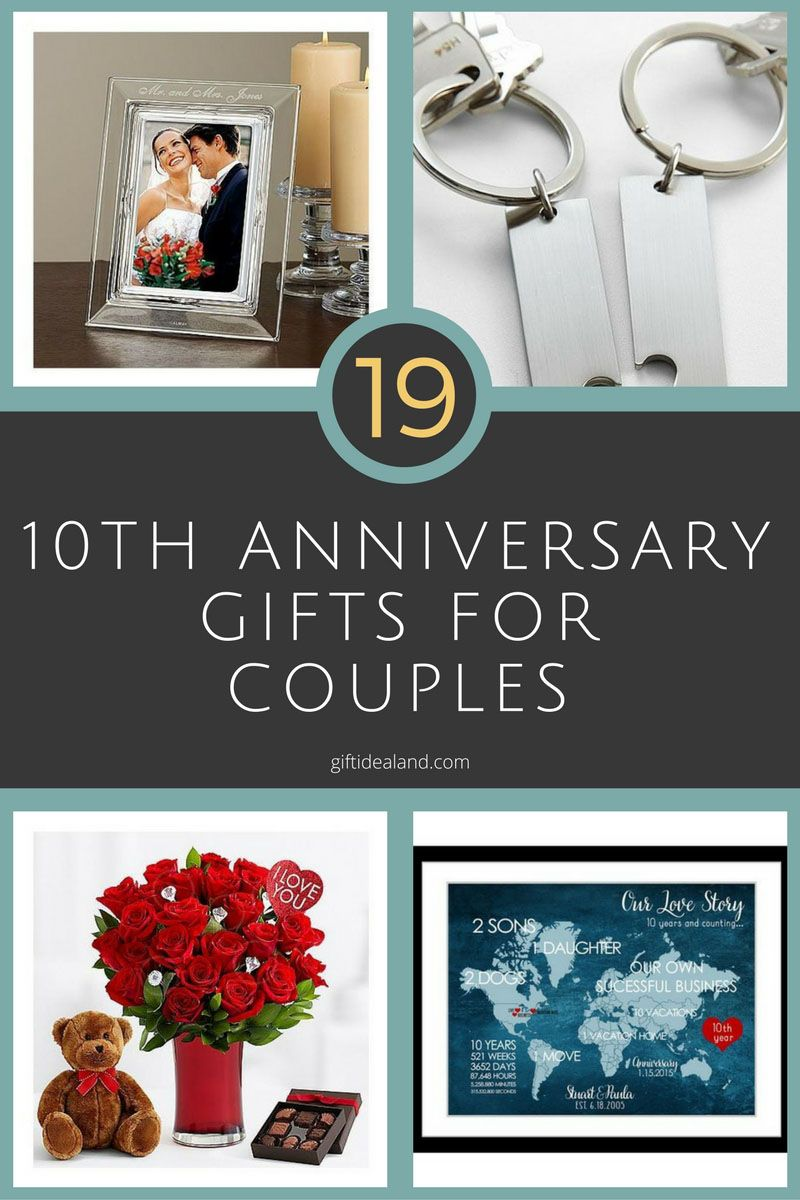 26 Great 10th Wedding Anniversary Gifts For Couples Pinterest
