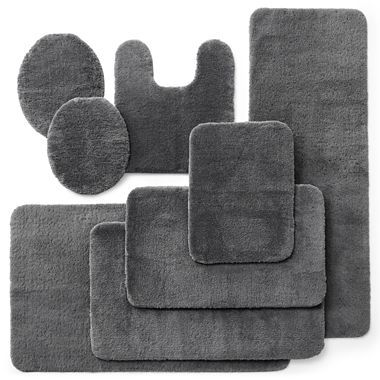 Royal Velvet Plush Bath Rugs Factory Grey 15 45