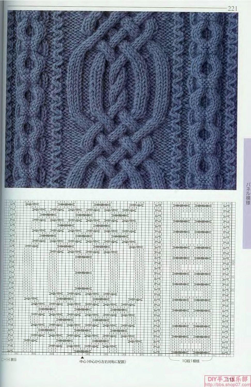 Ручное вязание спицами схемы узоров