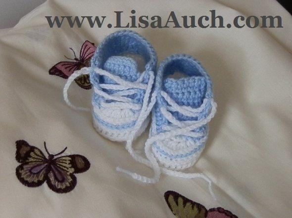 crochet baby booties patterns-baby sneakers
