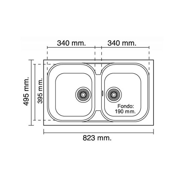 Resultado de imagen de dimensiones lavadero cocina arqui for Dimensiones fregadero