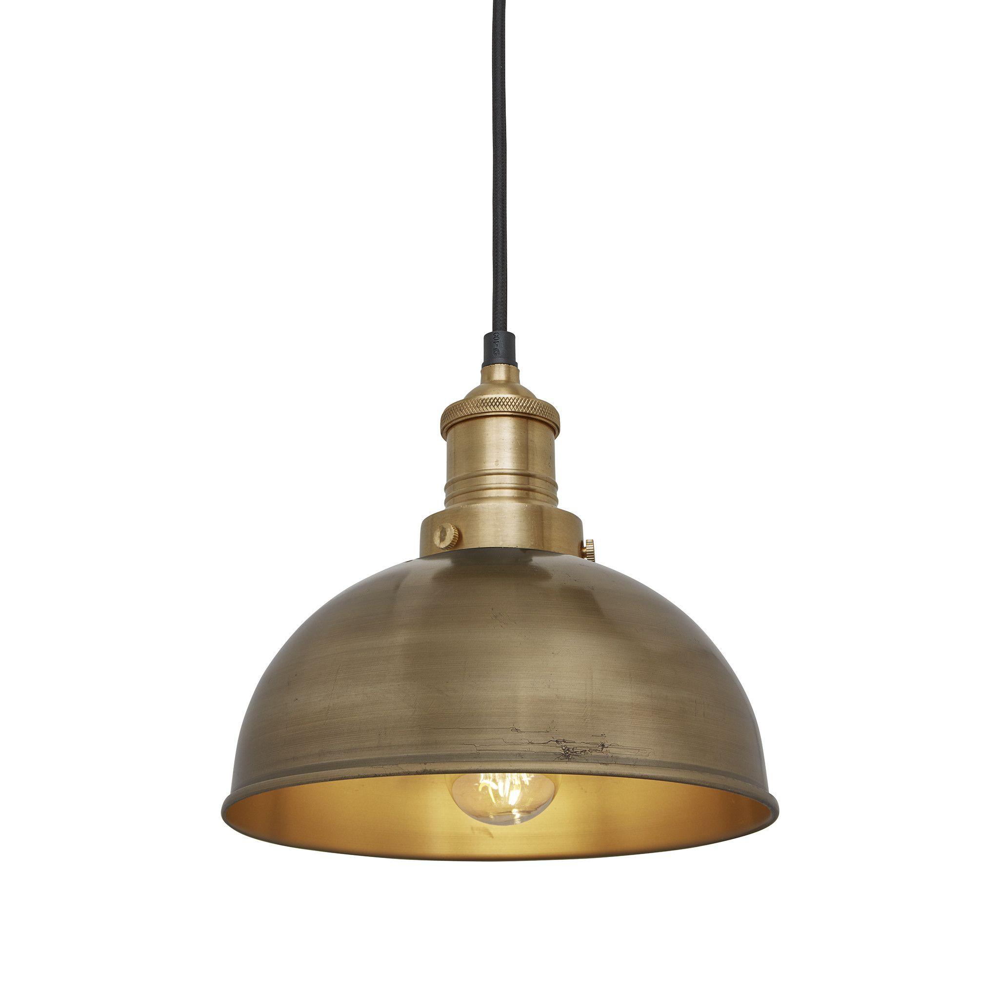 Brooklyn Dome Pendant 8 Inch Brass Lightscape