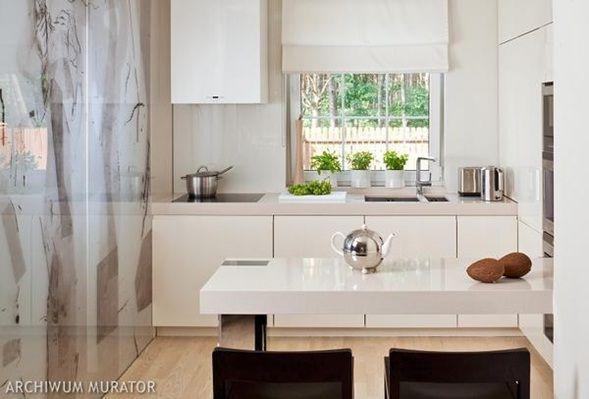 cocina-pequeña-moderna-blanco-1.jpg (589×399) | Cocina | Pinterest ...