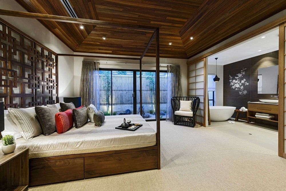 JapaneseInspired Retreat Generating a Soothing Ambiance
