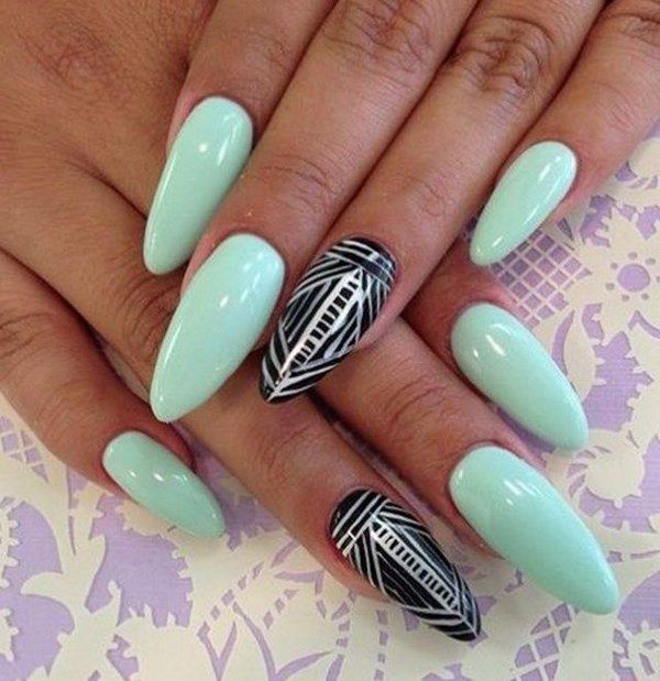 Uñas Color Menta - Mint Nail Art | uñas | Pinterest | Color menta ...