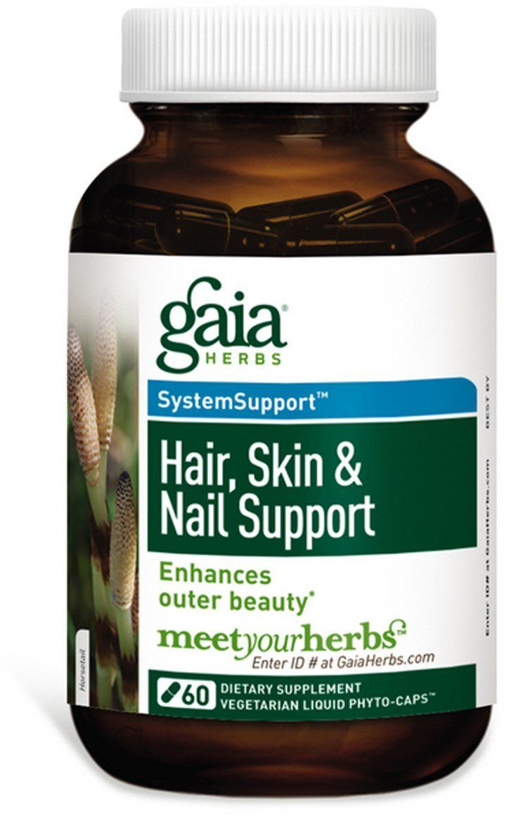 Gaia Herbs Hair, Skin And Nail Support, 60-capsule Bottle *** For ...