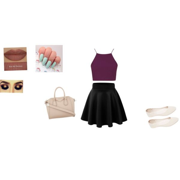 A cute outfit to go to the mall with friends or a nice night with your boyfriend by sumterspurs on Polyvore featuring polyvore, beauty, Derriére, Givenchy, Topshop and Wet Seal