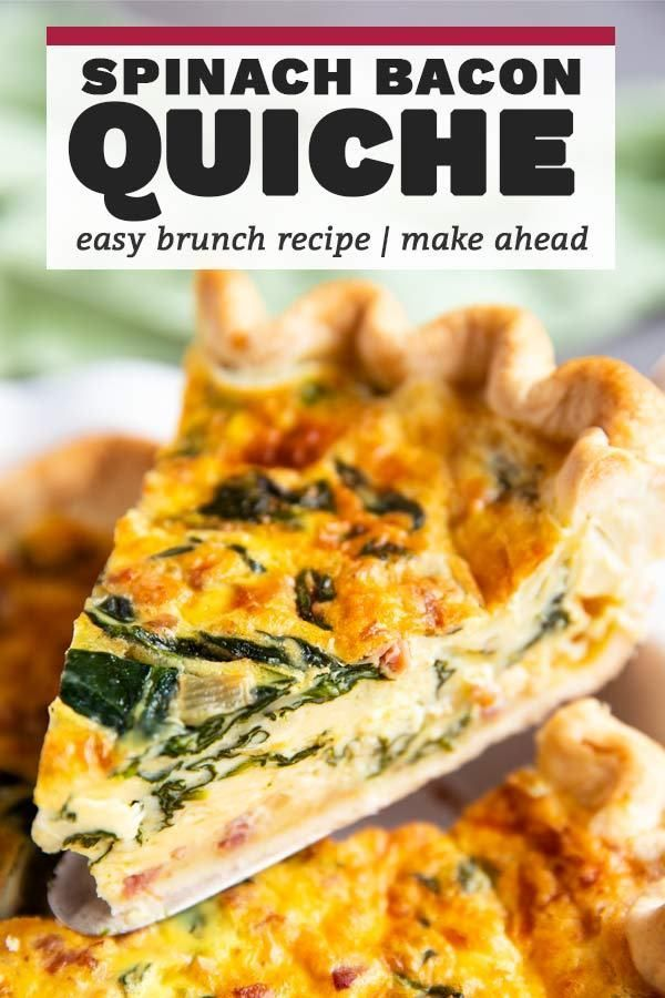 Try this delicious Spinach Bacon Quiche for your next weekend brunch. Made so easy with frozen pie
