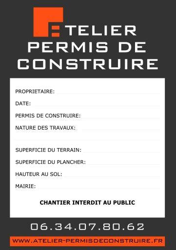 Exemple De Permis De Construire Permis De Construire Panneau De Chantier Construire