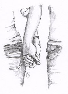 Images > Pencil Sketches Of Couples Holding Hands ...