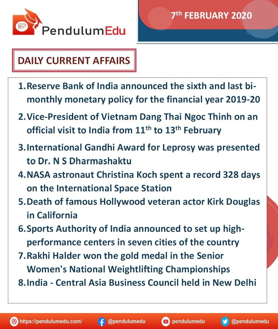 DAILY CURRENT AFFAIRS 7TH FEB 2020 in 2020 Current