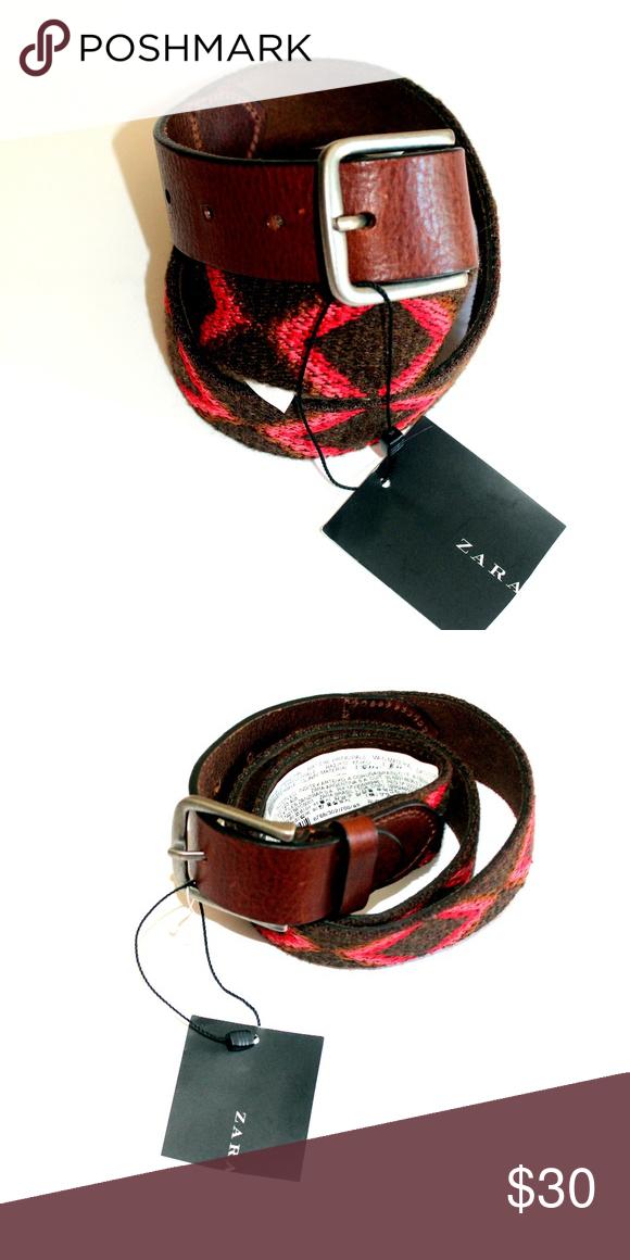 d1efd672eeb NWT ZARA Multi color Wool Blend Belt multi color belt 55% polyester 45% wool