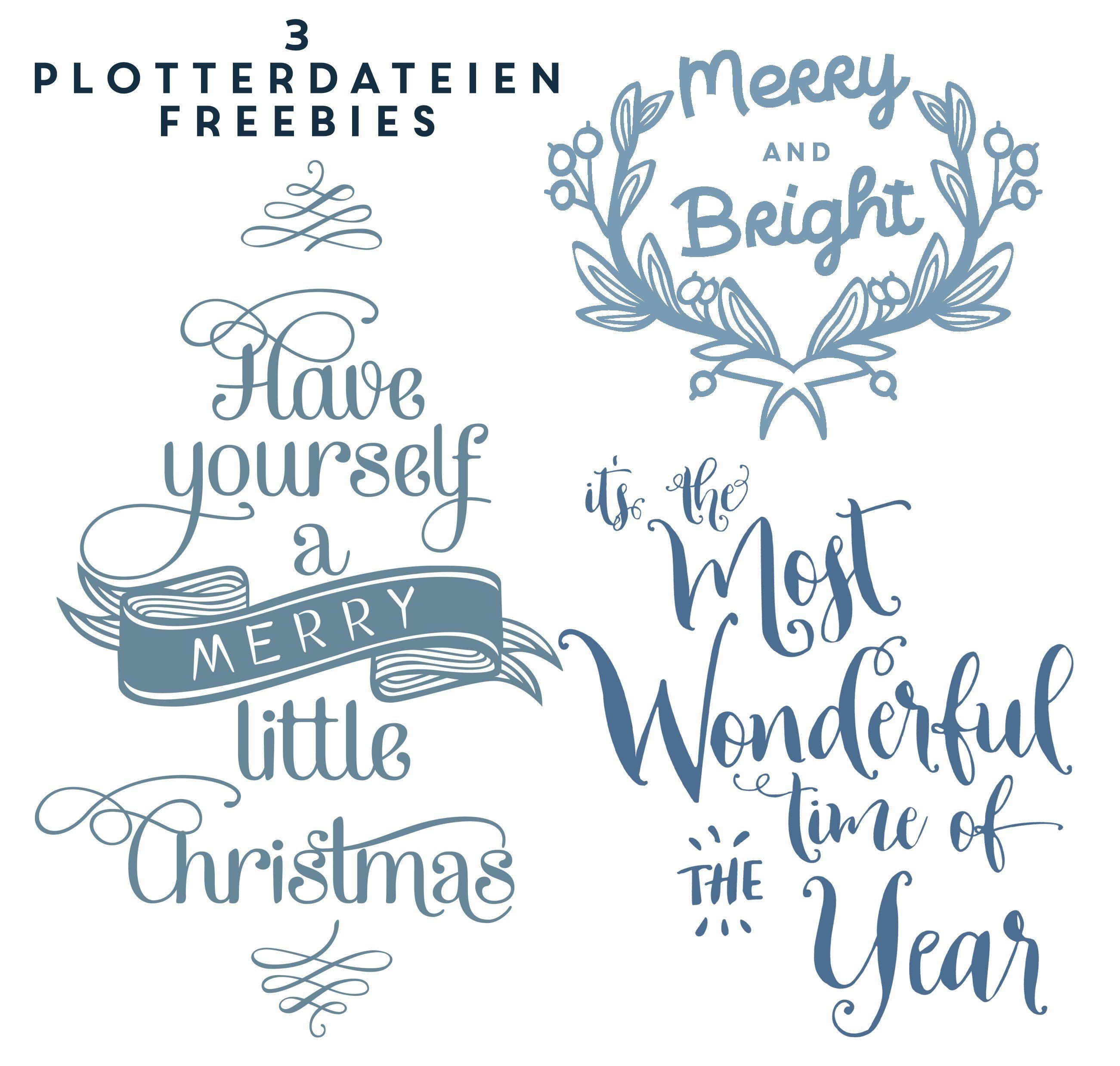 Freebie 3 weihnachtliche plotterdateien plotterdatei kostenlos und weihnachten - Silhouette cameo vorlagen ...
