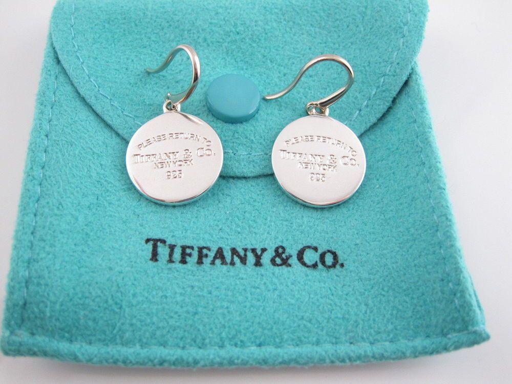 61fedff90c2bd Tiffany & Co Return to Tiffany Silver Round Tag Circle Dangling ...
