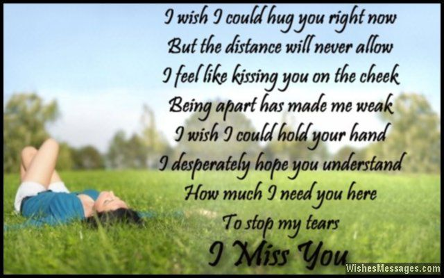 Missing You Poems For Him 1