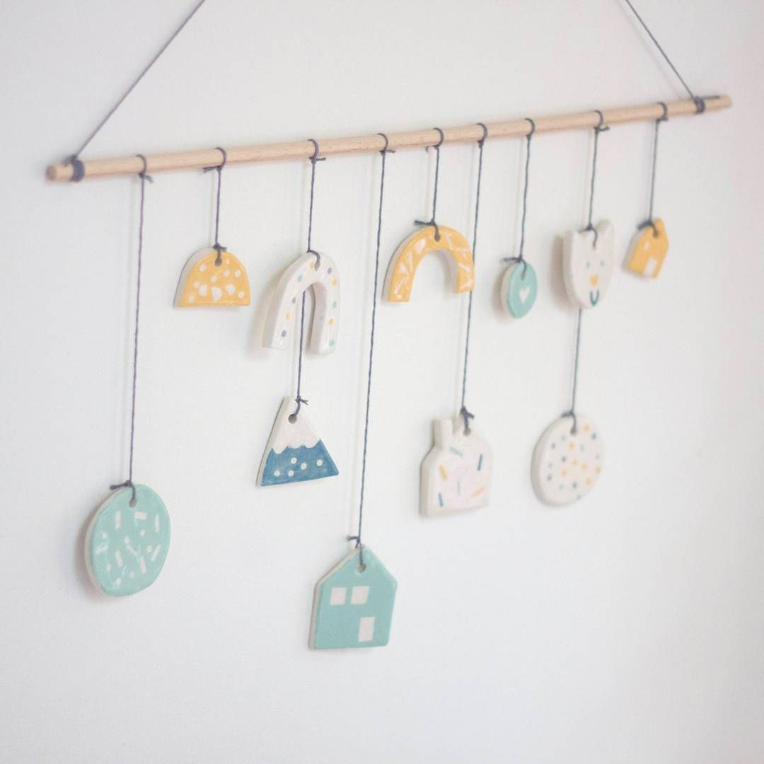 Céramiques suspendues #ceramique #ceramics #suspension #mobile