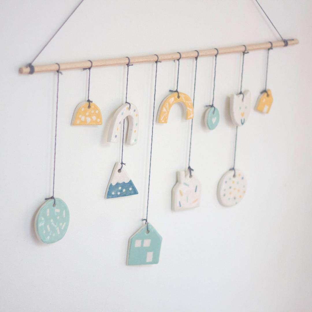 Céramiques suspendues #ceramique #ceramics #suspension #mobile