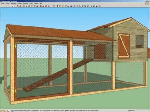 Blog poulailler 3d mod le blondin stephens stuff pinterest chicken houses chicken - Comment construire un poulailler ...