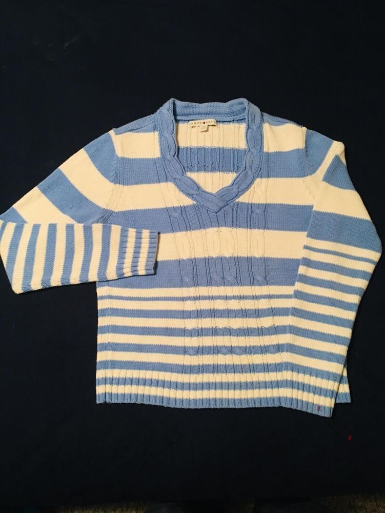 67ba2f55a87 Women s Tommy Hilfiger Cable Knit Long Sleeve V-Neck Sweater Winter large   fashion  clothing  shoes  accessories  womensclothing  sweaters (ebay link)