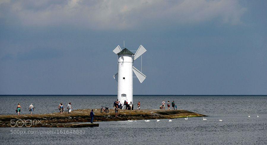Polen Swinemünde die Windmühle an der Hafenmole by mr53160 #travel #traveling #vacation #visiting #trip #holiday #tourism #tourist #photooftheday #amazing #picoftheday