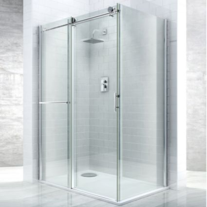 Cooke Amp Lewis Eclipse Rectangular Shower Enclosure Tray Amp Waste Rh W 1400mm D 800mm Image 4 Badezimmer Baden Zimmer