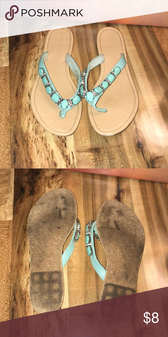 951c32e7bfa6 Blue gem sandals Blue gem sandals. Worn a handful of times Shoes Sandals