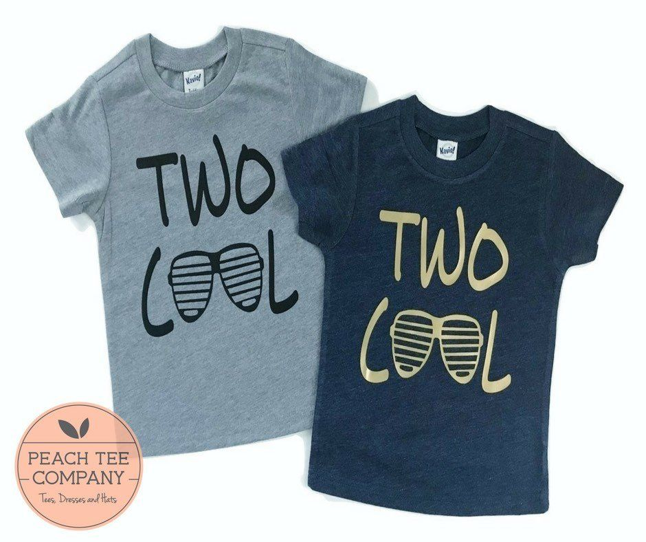2nd Birthday Shirt Boy Boys Shirts 2 Year Old Two Cool By PeachTeeCo On
