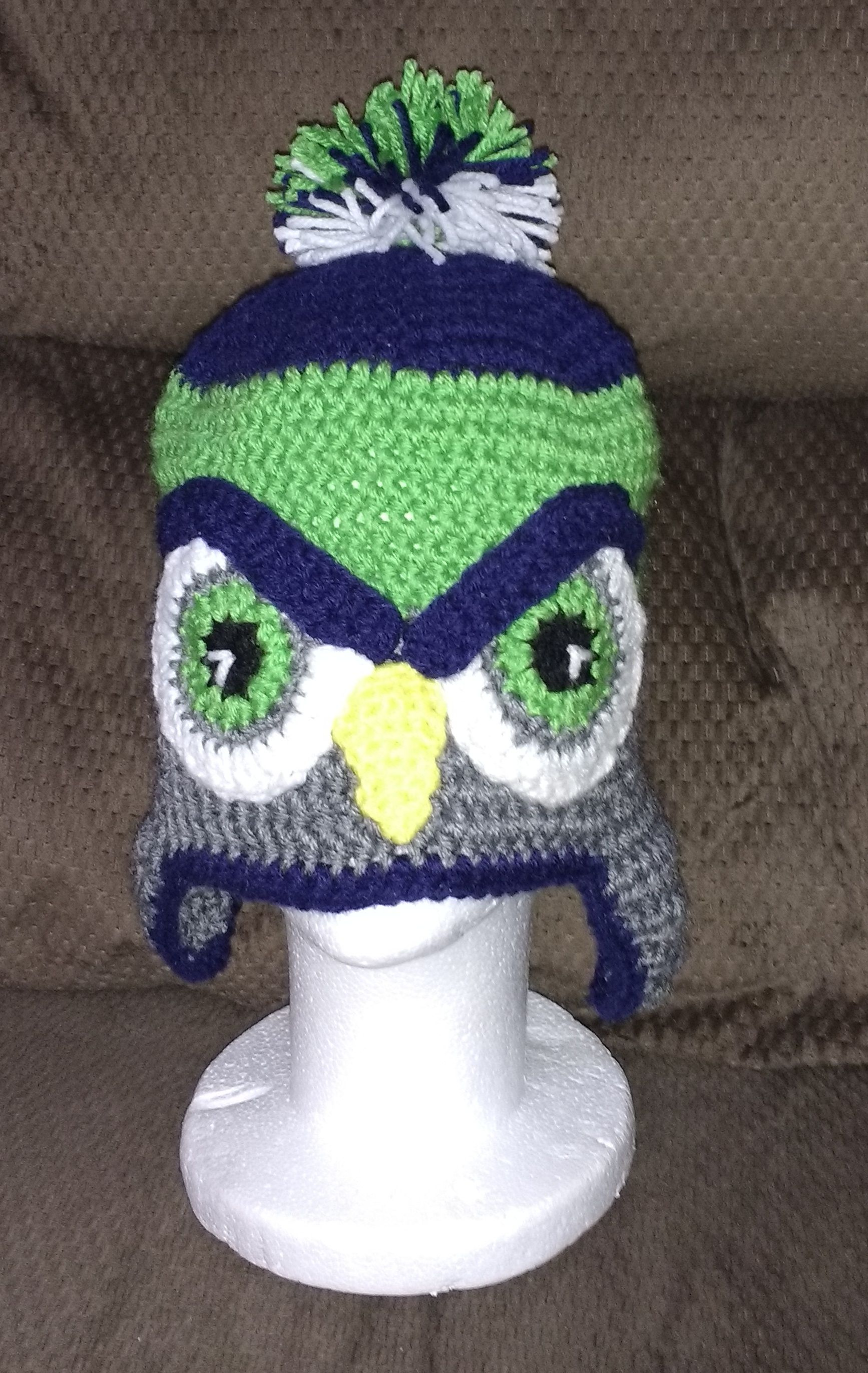 9bf0d1e11e6 Crochet project seattle seahawks hat i made this hat for grandson i didnt  have a pattern