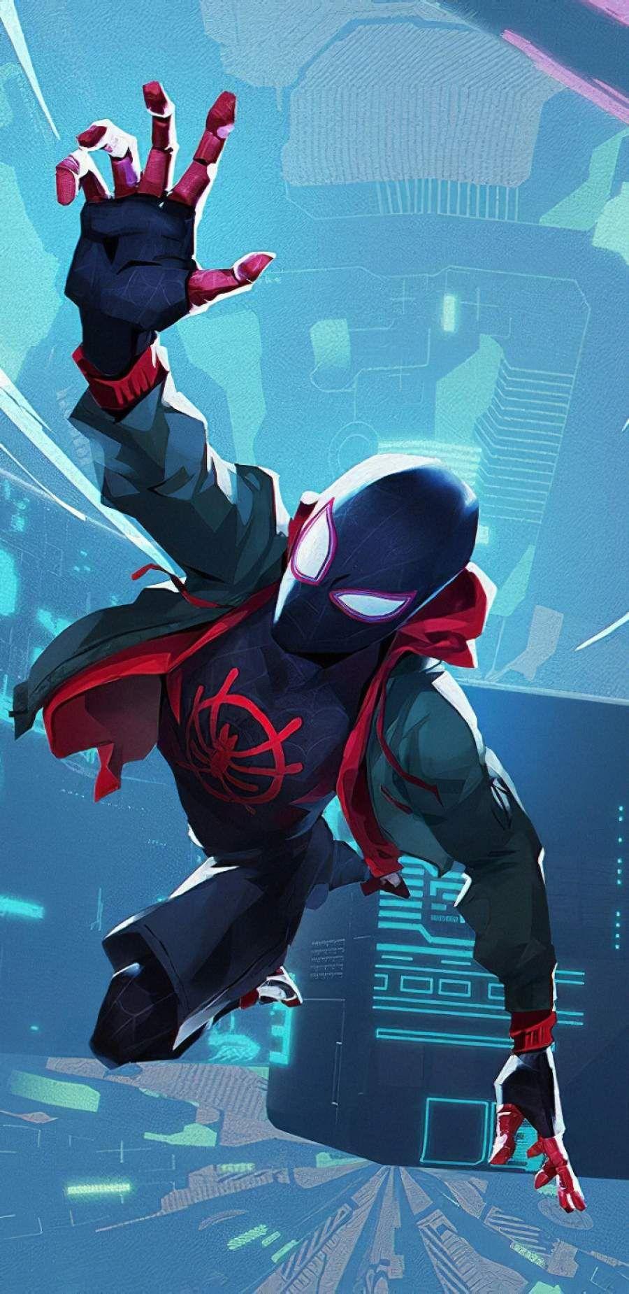 Spiderman Miles IPhone Wallpaper - IPhone Wallpapers