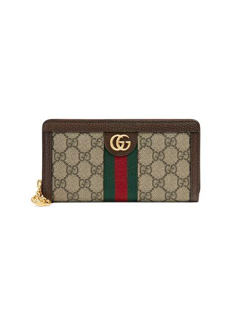 7108e68b15c4 Gucci Beige Ophidia GG Zip Around Wallet в 2019 г. | Farfetch.com ...