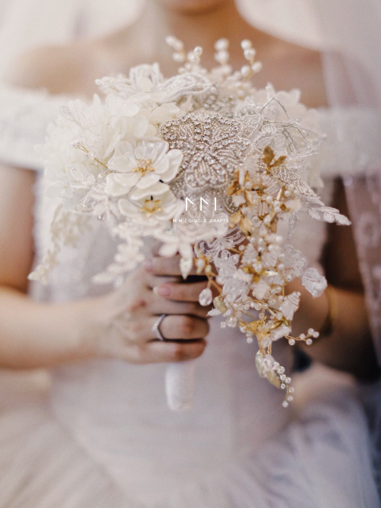 Handmade Jewelry Bouquet For Bride Wedding Bouquet Bridal Bouquet