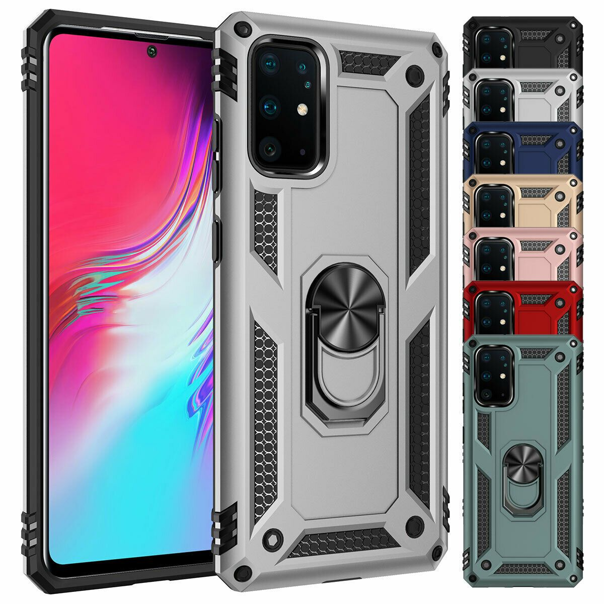 Details About For Samsung Galaxy S20 S20 5g Magnetic Protective Case With Ring Holder Cover In 2020 Protective Cases Cell Phone Ring Cell Phone Holder