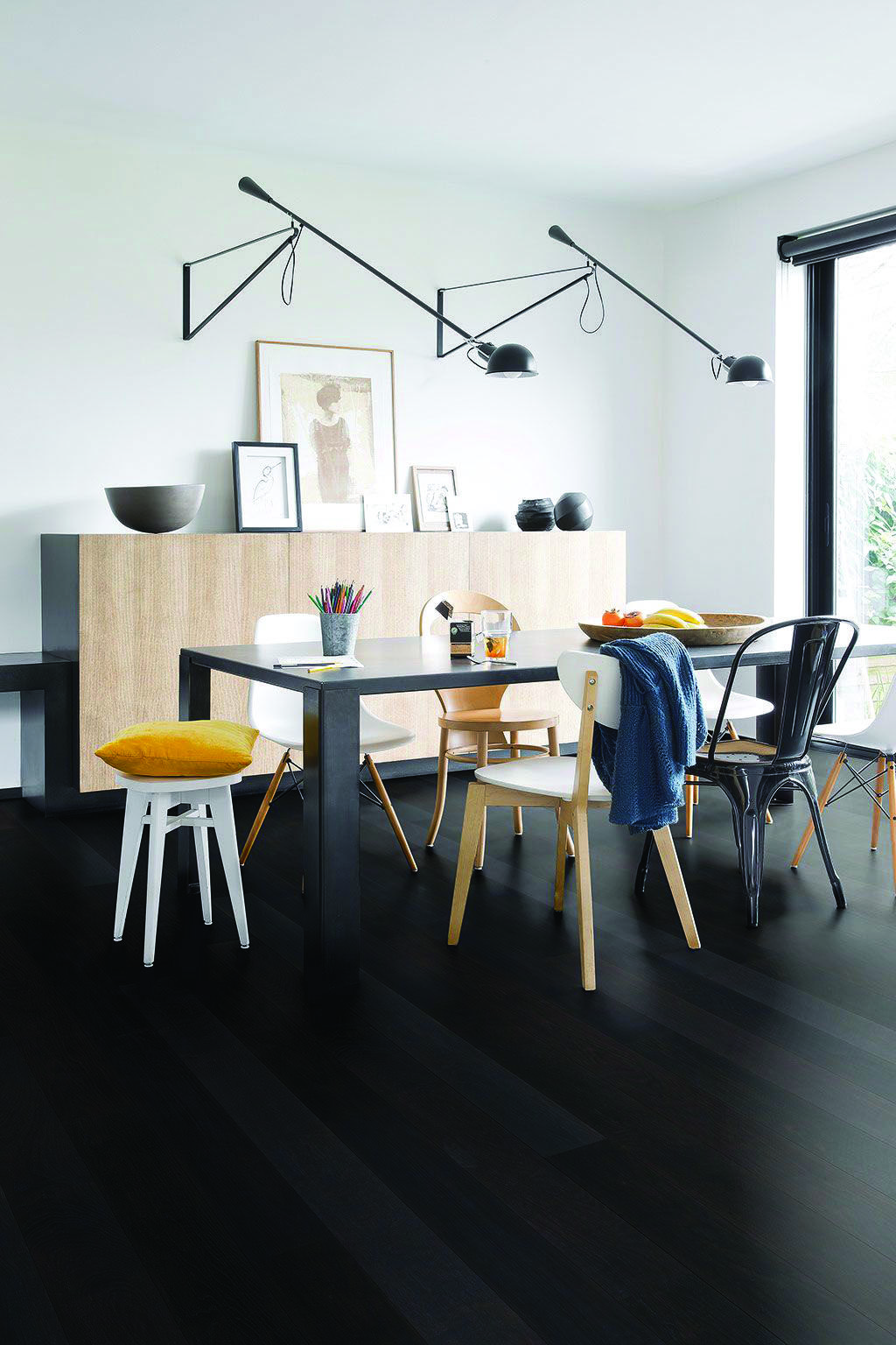 Parquet Flooring Picture Gallery  Parquet noir, Décoration salon