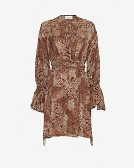 Faith Connexion Silk Printed Wrap Dress