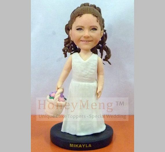 Flower girl gifts custom figurines for flower girls by HoneyMeng, $89.00