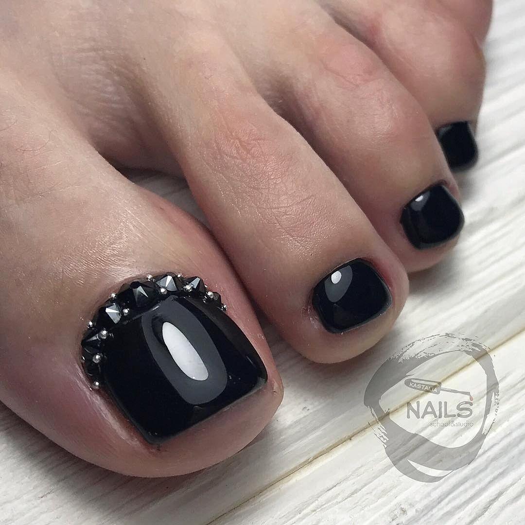 Black Toe Nail Art | TOE NAIL ART | Pinterest | Black toe nails, Toe ...