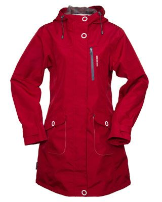 ladies' waterproof parka | if in doubt wear red | Pinterest ...