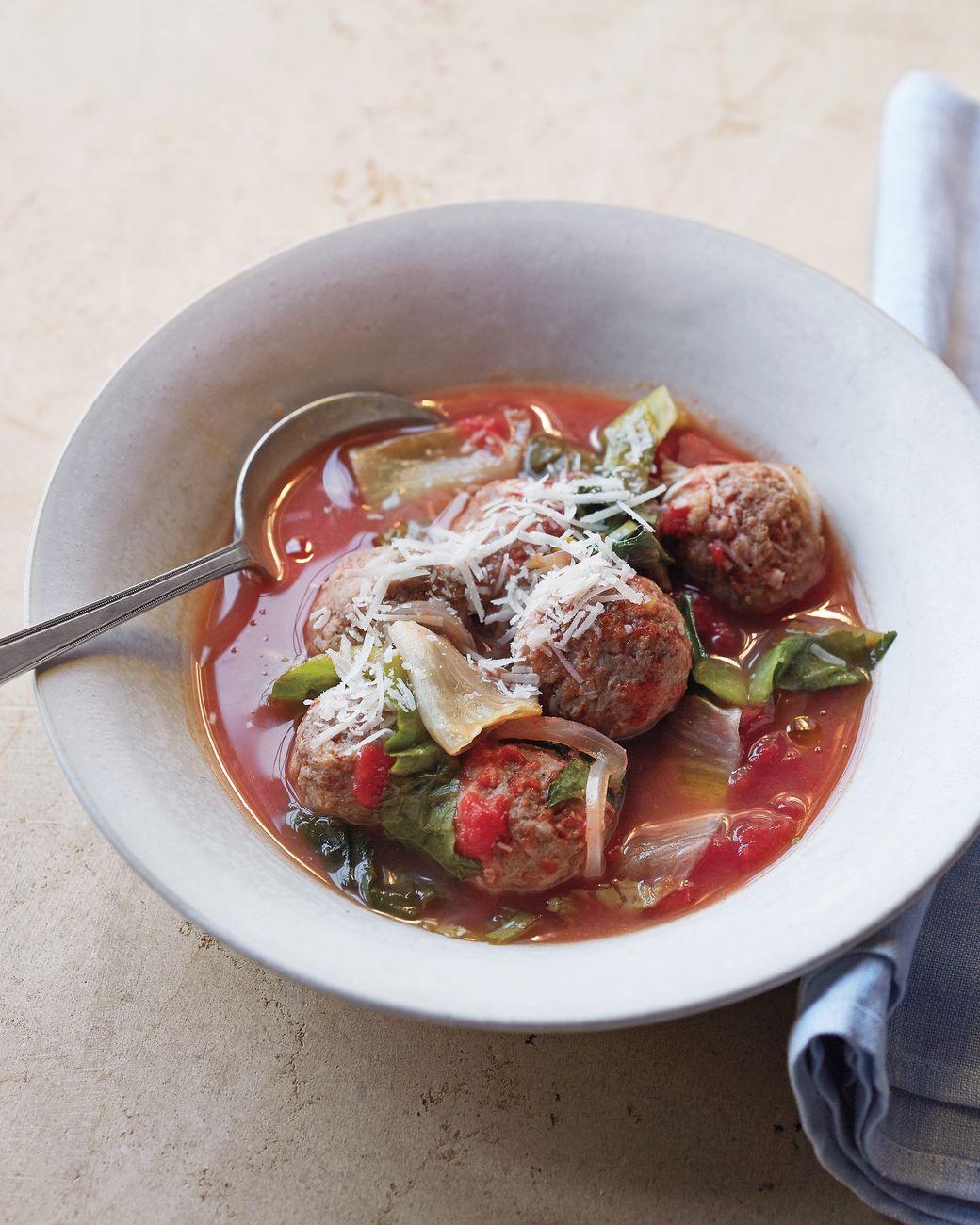 Italian Wedding Soup with Turkey Meatballs Recipe