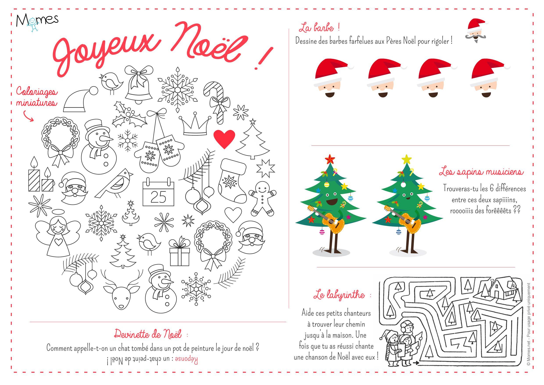 Decoration de noel activites coloriage jeux dessin - Deco de noel a imprimer gratuit ...