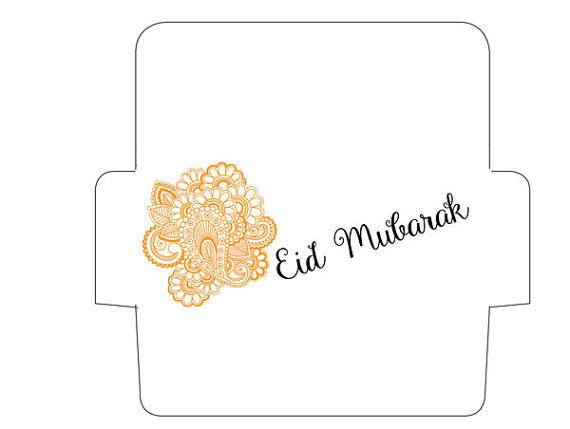 SET OF 3 Printable Paisley Eid Money Envelope door CrescentandDawn ...