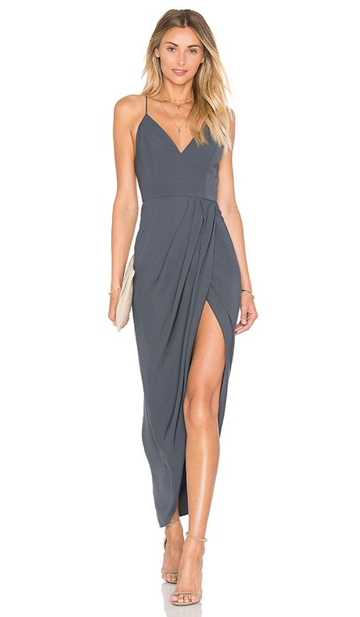 Shona Joy Stellar Drape Dress In Charcoal Revolve Draped Dress Wedding Attire Guest Cocktail Bridesmaid Dresses Each wedding gown is impeccably tailored with guarantee of 6. pinterest