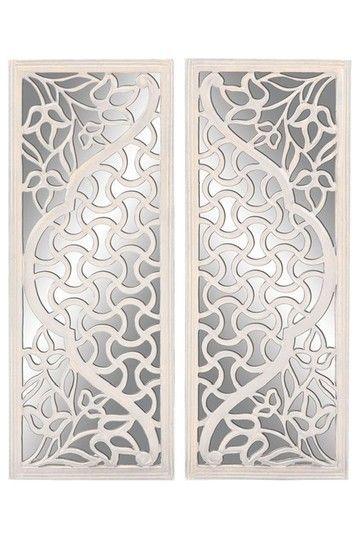 Uma Wood Mirror Wall Decor Set Of 2 Mirror Wall Decor