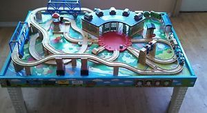 Thomas The Tank Engine Train Friends Island Of Sodor Wooden Play Table Playboard Toy Train Table Thomas The Train Table Train Table