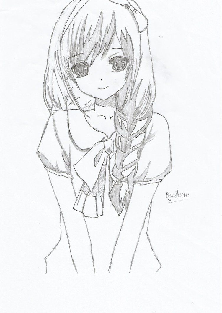 To draw simple anime girl drawing easy