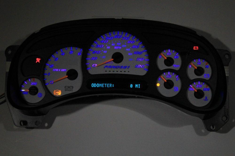 2005 Chevrolet Silverado 1500 >> Details about REBUILT OEM 06 SS SUPER SPORT WHITE GAUGE ...