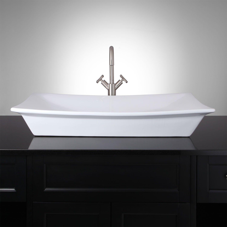 altair rectangular porcelain vessel sink bathroom vessel sink rh pinterest com