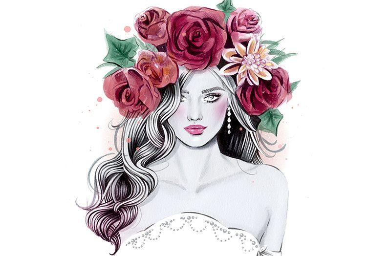 6 Easy Diy Floral Crown Hairstyles Washingtonian Dc Crown Drawing Diy Floral Crown Girly Art